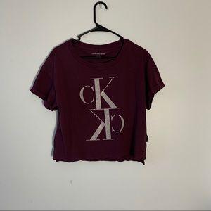 Calvin Klein Jeans burgundy T-shirt